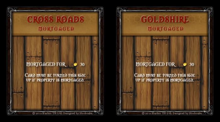World of Warcraft Monopoly Property Deeds Set