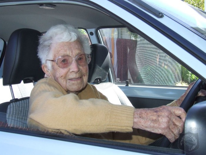 Old age pensioner - driving a car!
