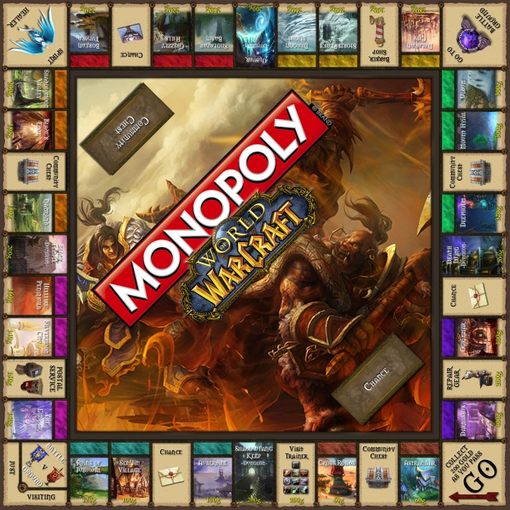 World of Warcraft Monopoly board