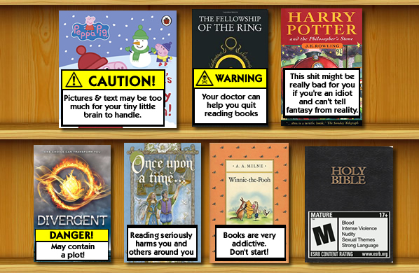 What if books contained health warnings?